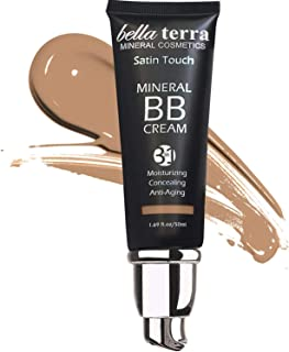 Bella Terra BB Cream Tinted Moisturizer, Mineral Foundation, Concealer, Anti-Aging, Natural Sun Protection, All Shades 1.6...