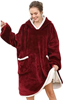 Oversized Hoodie,Hoodie Blanket Super Soft Warm Comfortable,Sweatshirt Blanket for Women Men One Size Fit All