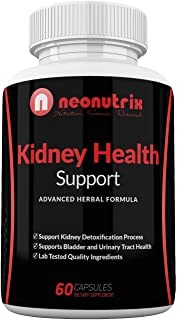 Kidney Support Cleanse Supplement - All Natural Herb Plants Dietary Supplements - Cranberry Extract Kidney Detox Cleanse - Supports Bladder & Urinary Tract Health 60 Veg Capsules by Neonutrix