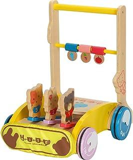Baby Walkers GUO@ Caminante De Bebé NiñO Juguetes De Los NiñOs Carretilla Plegable De Madera Ajustable De La Altura Ajustable del Bebé De 1-3 AñOs De Turnable