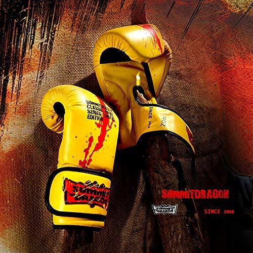 Ywlanlantrading Handschuh Männlich und weiblich Weiblich Erwachsene Boxhandschuhe Sanda Boxsack Trainingshandschuhe (Color : Yellow, Size : 10oz)
