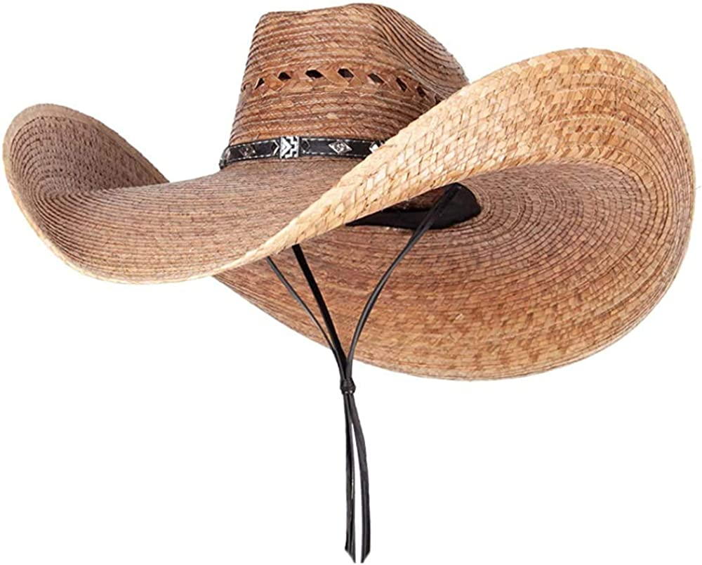 AS Max 43% OFF YOU WISH Mexican Opening large release sale Style Super Summer Ha Cowboy Wide Straw Brim