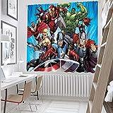 Sdustin The Avengers, Iron Man Hulk (22) cortinas para niños superhéroes de 157,5 x 183,8 cm, para cortinas de dormitorio con aislamiento térmico (tela de poliéster)