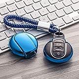 DkelBA Étui de Protection de clé en TPU Porte-clés de Protection de clé de Voiture, pour BMW...