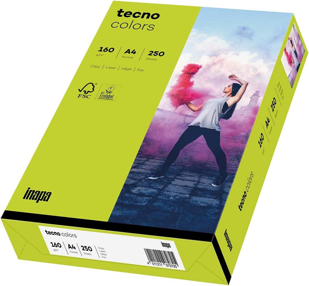 inapa Tecno Colors Lot de 500 feuilles de papier color/é 80 g//m/² Orange intense