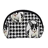 Black and White French Bulldog Cosmetic Bag by Signare/Makeup Holder Toiletry Travel Beauty Case/COSM-FREN