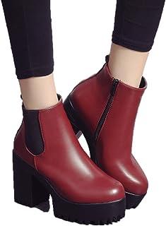 Sta.ANA(サンタ?アナ)サイドゴア ブーツ 厚底ブーツ ショートブーツ 10cmヒール 22.5cm~25cm