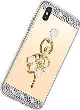 Herbests Compatible avec Samsung Galaxy A50 Coque Ultra Fin L/éger Etui Glitter Paillette Brillant Case Support Danneau de Rotation de 360 Degr/és Etui Galvanoplastie Marble Phone Case,Rose