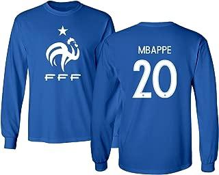 Tcamp France 2018 National Soccer #20 Kylian MBAPPE World Championship Men's Long Sleeve T-Shirt