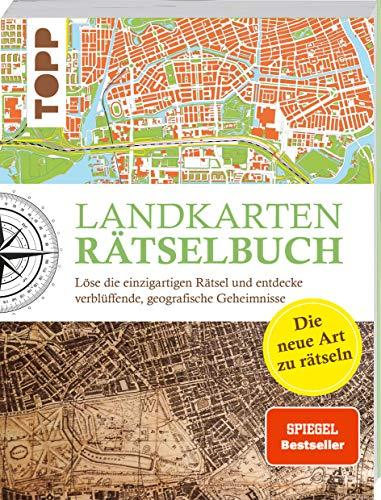 Landkarten Rätselbuch - die Rätselinnovation. SPIEGEL Bestseller: Löse die einzigartigen Rätsel und entdecke verblüffende geographische Geheimnisse: ... geographische Geheimnisse. SPIEGEL Bestseller