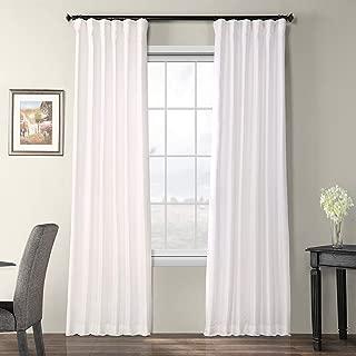 Half Price Drapes PTCH-BO120-84 Blackout Faux Silk Taffeta Curtain, Eggshell