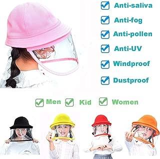Full Face Protective Cap UV Pollen Windproof Dustproof Outdoor Fisherman Bucket Hat for Women Men Kids