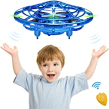 CPSYUB Hand Operated Mini Drone, Toys for 4-5 Year Old Boys, Hand Free Kids Drone Toys for Age 4, 5, 6, 7, 8, 9, 10, 11, 12 Boys / Girls, Easy Indoor Flying Ball Drone for Kids Toys Gifts (Blue)