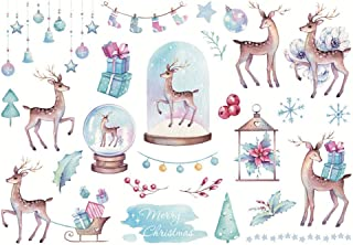 Pulbo Autocollants en papier pour scrapbooking, loisirs créatifs, décoration de festival, de Noël, de fête, de planificati...