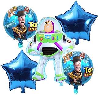 Toy Story Birthday Party Balloons - Buzz Lightyear Balloon Decorations - Buzz Lightyear Woody Party Balloons - Ribbon Incl...