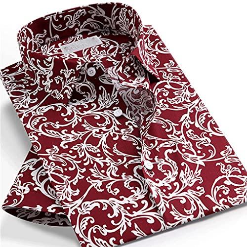 SLATIOM Camisa de manga corta con estampado floral de verano para hombre, blusa, diseño sin bolsillo, camisas...