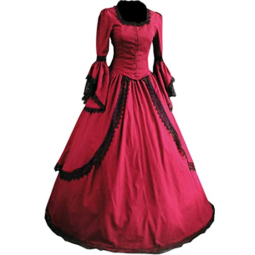 Partiss Women Lace Floor-length Gothic Victorian Dress 9f41f278f881