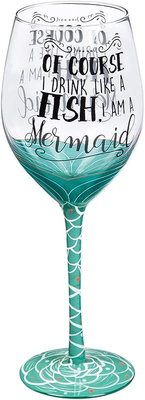 I M A Mermaid 12 OZ Wine Glass 4 X 4 X 9 Inches