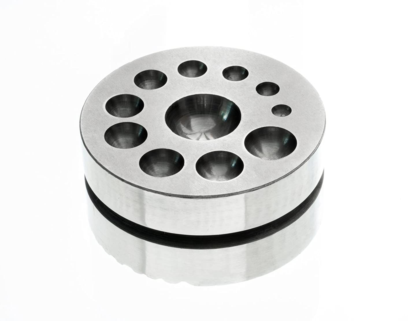 SE JT3406DP Round Double Sided Steel Dapping Block and Bracelet Holder