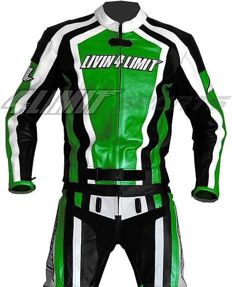 4limit Sports Motorrad Lederkombi Laguna Seca Zweiteiler Schwarz Grün Größe M Auto