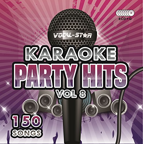 Karaoke Party Hits Vol 8 CDG CD+G Disc Set - 150 Songs on 8 Discs Including The Best Ever Karaoke Tracks Of All Time (Calvin Harris ,Miley Cyrus, Meghan Trainor, Rita Ora, One Direction &