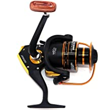 NUZAMAS AF6000 Fishing Reels- 12+1 Ball Bearings, Light, Smooth Spinning Reels, Max 12kg Drag, Salt, Freshwater Bait and Lure Fishing, Right and Left Hand Retrieve