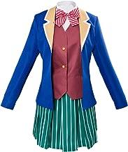 Obtai Halloween Girls Matsuzaka Satou Dress High School Uniform Cosplay Costume Full Set Suit.