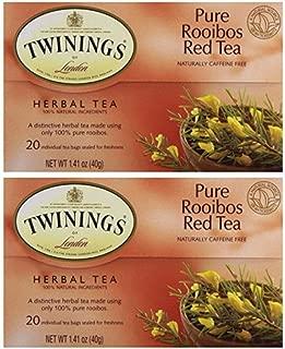 Twinings Tea Red African Rooibos Tea, 20 ct(Pack of 2)