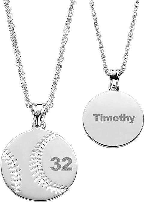 IPCROMY Carved 925 Sterling Silver Custom Personalized Fan-Shaped Pendant Name Necklace Fashion Gift for Girlfriend