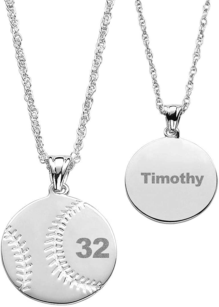 Saalort 925 Sterling Silver Personalized Nameplate Necklace Custom with 3 Names and Birthstone