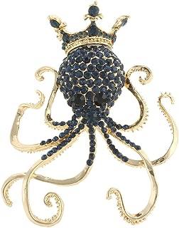 Ever Faith Damen Österreichische Kristall Party Nette Octopus Tier Brosche