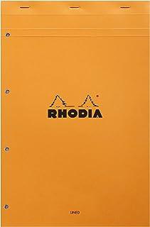 Rhodia Kladblok, No20 A4+, Gat geperforeerd, Gevoerd - Oranje