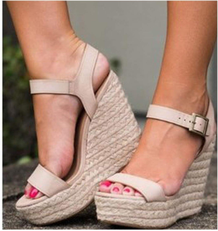 Lewis Pitman Flat Platform Pu Leather Ankle Strap Sandals shoes Wedge Platform Party Sandals