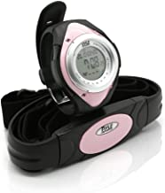 Pyle Fitness Heart Rate Monitor - Healthy Wristband Sports Pedometer Activity Fitness Tracker Steps Counter Stop Watch Alarm Water Resistant Calorie Counter Target Zones - PHRM38PN (Pink)