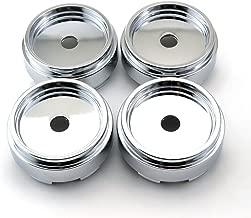 65mm Chrome Silver ABS Car Wheel Center Hub Caps Base Set of 4
