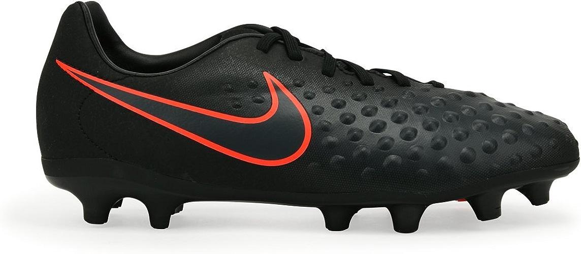 NIKE Enfants Magista Opus II FG noir Total Crimson Soccer chaussures - 11.5C