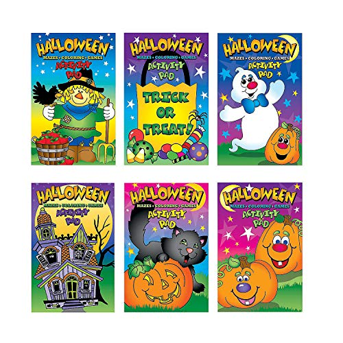 Fun Express - Halloween Activity Pads for Halloween - Stationery - Activity Books - Activity Books - Halloween - 12 Pieces