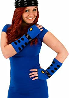 elope Dr. Who Dalek Knit Arm Warmers Blue