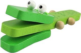 Karikatur-Krokodil-Form-h/ölzernes Castanet-Kl/öppel-p/ädagogisches Spielzeug f/ür das Baby-fr/ühe Lernen KOKO Zhu Musikalische Perkussion