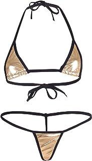 3b8c2bf701416 YiZYiF Women's Brazilian Bikini Triangle Thongs G String Swimwear Bathing  Suits
