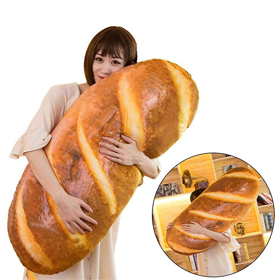 Funny 3D Simulation Bread Shape Pillow Soft Lumbar Back Cushion Plush Novelty Stuffed Toy 60CM/23.6