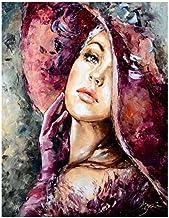 LIU Glamour Abstract Girl Art Illustration DIY Pintura Digital Prensa Digital Acrílico Imagen Moderno Arte de la Pared Pintado a Mano Pintura al óleo Inicio-30*40CM