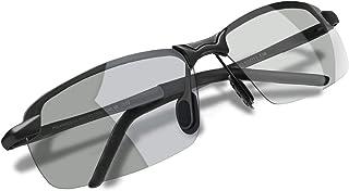WHCREAT Herren Photochromatisch Polarisierte Sonnenbrille für Fahren Draussen Sport mit Ultraleicht AL-MG Rahmen