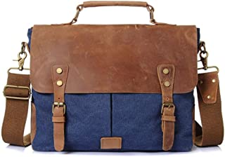 Rjj Men's Travel Bag Canvas Bag Vintage Large Capacity Clutch 36 * 12 * H28CM Exquisite (Color : Blue)