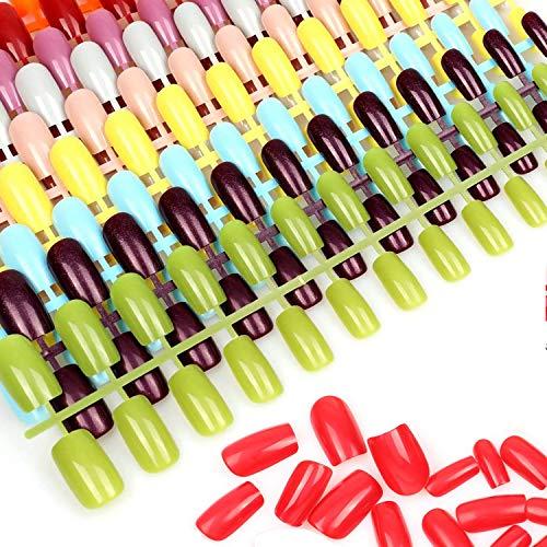 MWOOT Falsch Nägel (10 Blatt), Künstlich Ersatznägel für Maniküre Nägelkunst Design Zubehör - - Süß Farben