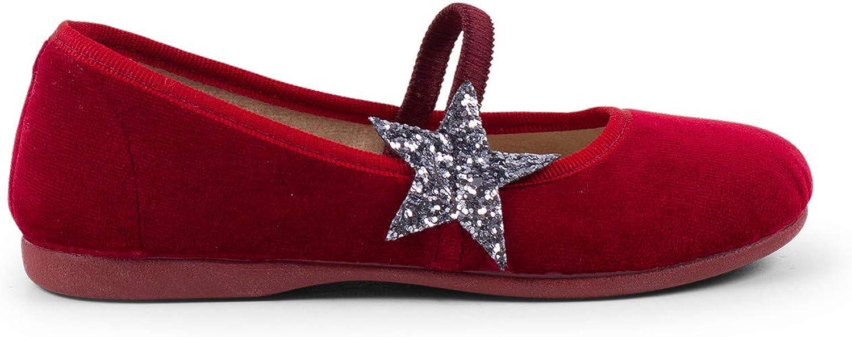 Bailarinas con Estrella Glitter y Tira El/ástica Pisamonas