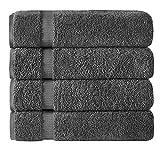 TOWELS BEYOND Juego de 4 toallas de baño Lux de 100 % algodón turco (70 x 140 cm), toallas de baño Lux, toallas absorbentes y suaves para regalar