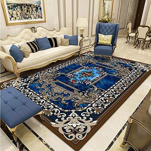 Modern Style Carpet Living Room Sofa Blanket Household Printing Bedroom Bedside Large Square Carpet Can Be Washed
