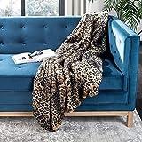 Safavieh Faux Black Leopard Throw Blanket