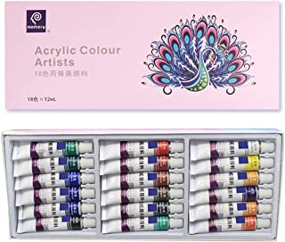 GIMEVAR 12/18/24 Colors 12ML Tube Acrylic Paint set Art Painting Drawing Tools For Kids DIY Water-resistant #18 Colors